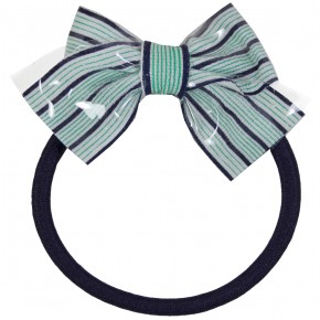 Stripes bow Hair Elastics