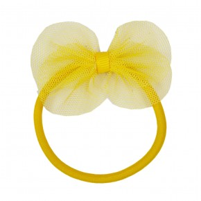Hair Elastic with Mesh Bow.