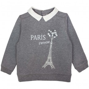 Sweater with Eiffel Tower Motif