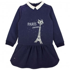 Dress with Eiffel Tower print