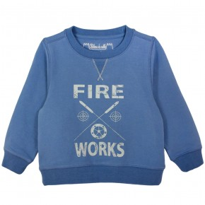 Sweaters with Fire works motif