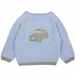 "Sweater with ""London Cab"" Motif"