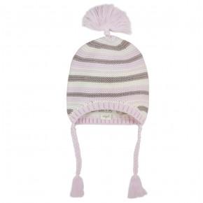 Bonnet à rayures colorées