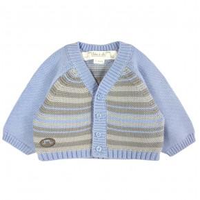Cardigan in Multi color stripes