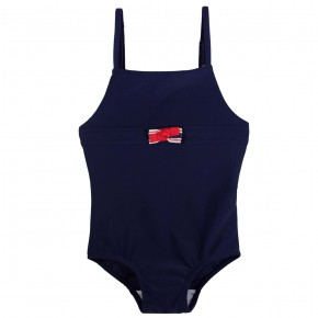 Oxford Bow Swimsuit