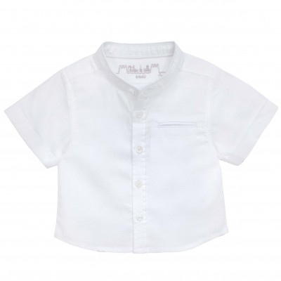 Jacquard Mao Collar Shirt