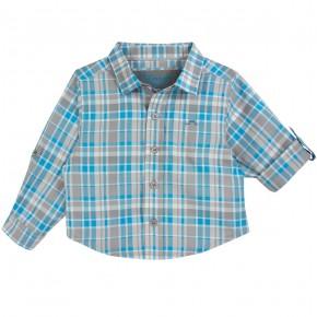 Chemise à carreaux bicolores