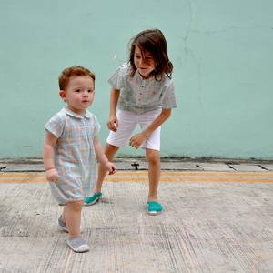 Play, laugh, love, repeat...   At Château de sable, we make clothes that let the kids do just that, clothes for all the siblings, clothes that can be passed from child to child in the family.  Discover our new Rainbow collection in light cotton in store and online now.