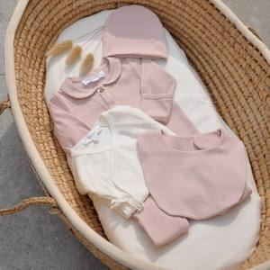Babies deserve the best… Dusty pink for the best style and soft Organic Cotton for the most comfortable look!